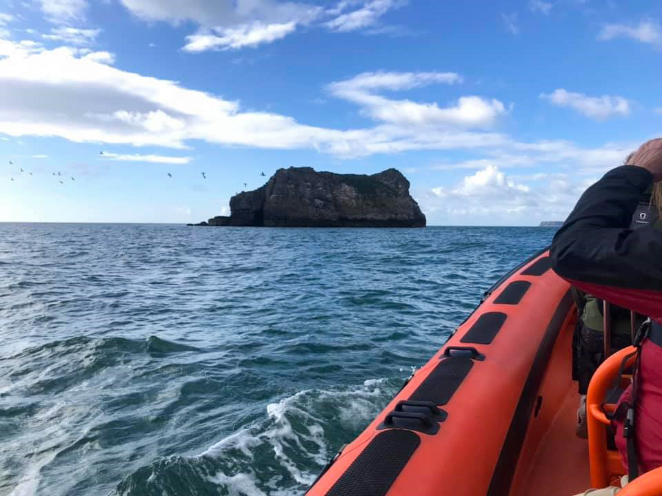 The Orestone rock viewed from the ocean