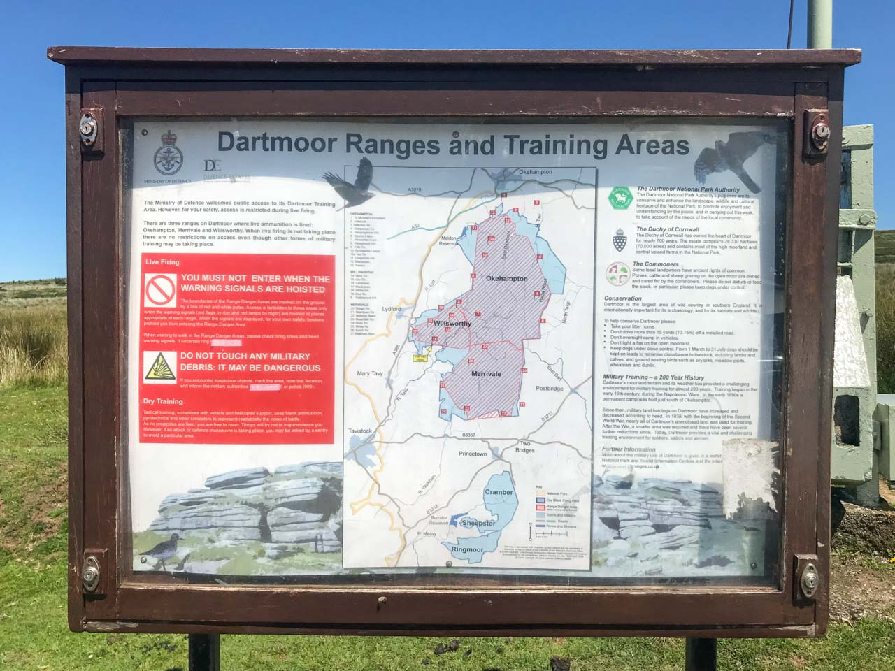 firing-range-noticeboard-lane-end-dartmoor