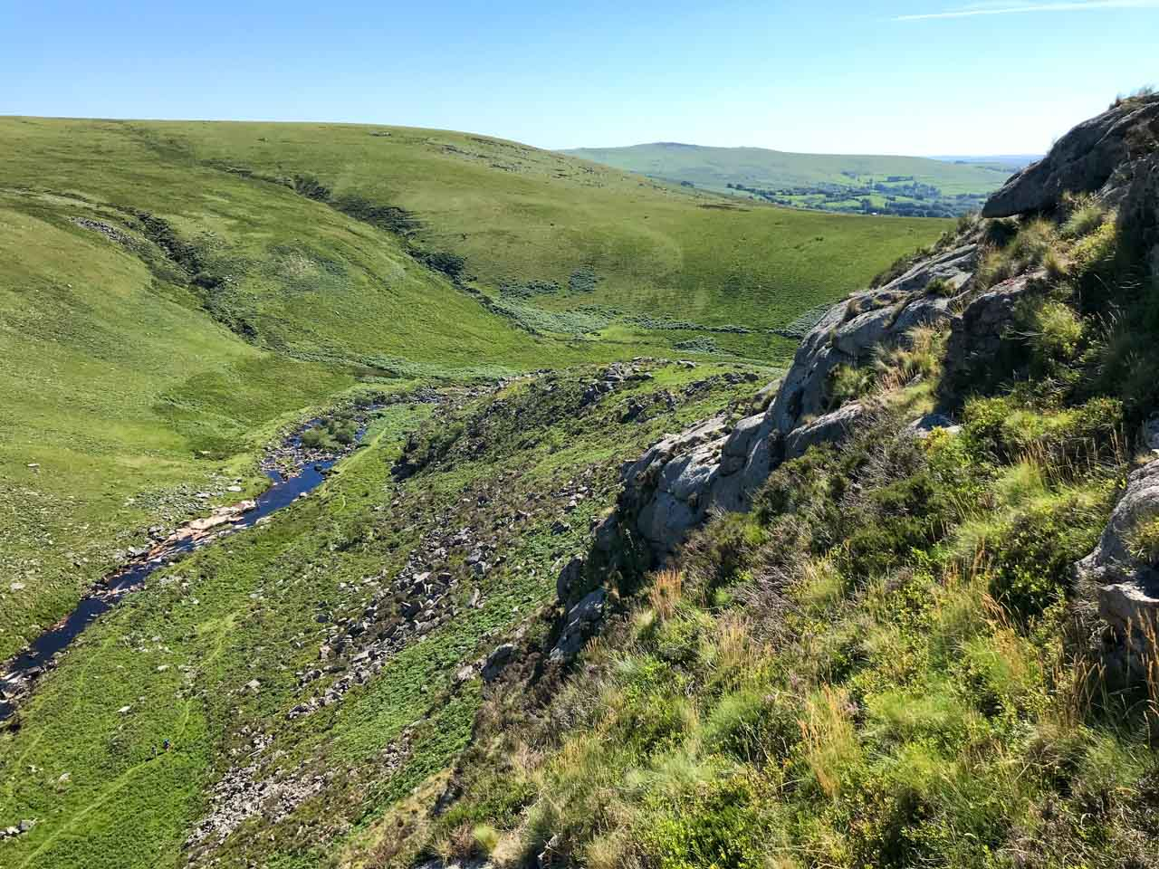 Looking down Tavy Cleave, Dartmoor.